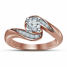 1.50 Ct D/VVS1 Diamond 14K Rose Gold Over Women's Wedding Bridal Engagement Ring