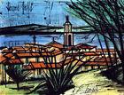 Framed canvas art print giclee  BERNARD BUFFET  Saint-Tropez