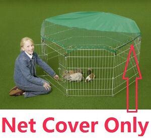 Sun Shield Net Cover for Dog Ferret Rabbit Guinea Run, Cage, Pen,Playpen,Octagon