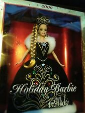 Holiday Barbie Doll 2006 Designer Bob Mackie Blonde Black Gown Christmas New