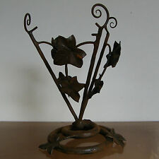 ANTIQUE 1930 F. CARION signed BELGIAN WROUGHT IRON ART DECO TABLE LAMP BASE