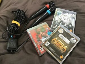 Singstar ABBA Queen PS3 Bundle Set Games Playstation 3 with microphones - vgc