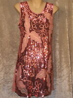 1920's Sequins, Braid & Embroidered Dress in a Leafy Vine Pattern Dress