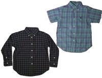 LOT OF 2 Polo Ralph Lauren Plaid Button Long/ Short Sleeve Shirts 4/4T