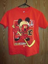 New- Calgary Flames Mickey Mouse Majestic Youth S Small (8) Red T-Shirt