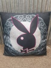 PLAYBOY LACE BLACK PINK BUNNY PILLOW CUSHION BEDROOM HOME DECOR 40cm