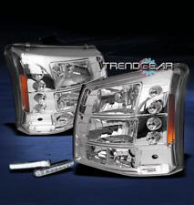 2003-2006 CHEVY SILVERADO AVALANCHE LED CLEAR CRYSTAL HEAD LIGHT+DRL LAMP SIGNAL