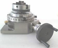 "Rotary Table Horizontal & Vertical 4"" / 100mm with 65mm Lathe Chuck for Milling"