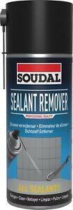 Soudal Sealant Remover 400ml Hardened Silicone MS Polymer Non Drip