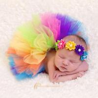 Newborn Toddler Baby Girl Lovely Costume Outfit Tutu Skirt + Headband Photo Prop