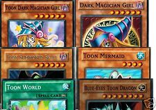 Blue-Eyes Toon Dragon 6-Card Set:Toon + Dark Magician Girl, World, Mermaid, Skul
