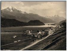 Suisse, Campfer u. Piz Corvatsch Vintage photomechanical print. Edition Photoglo