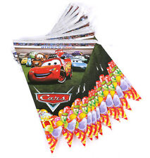 12Pcs Disney McQueen Cars Pixar Kids Flag Banners Bunting Birthday Party Supply