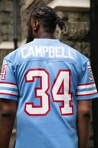 Mitchell & Ness 1980 Earl Campbell NFL LEGACY Houston Oilers BLUE Replica Jersey