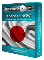 LEARN + SPEAK JAPANESE NOW! COMPLETE LEVEL 1 2 AUDIO LANGUAGE COURSE MP3 CD GIFT