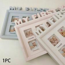 """Niño Bebé 0-12 meses """"mi primer año"""" Imágenes de Pantalla Marco Foto Recuerdos"""
