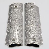 Custom Browning Grips Browning 1911-22 1911-380 Grips .22 .380 Nickel Plated