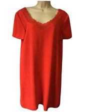 Sézane Boxy Shift Robe Rouge Coquelicot Dentelle Cou Mariage Invité fête taille 40 UK 12