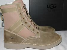 NEW NiB MENS SIZE 12 TAUPE UGG CAMINO FIELD SUEDE LACE-UP MILITARY BOOTS