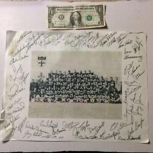 Original Promotional Copy- 1967 New Orleans Saints  Team Poster-Faux Signatures