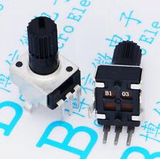 10PCS RV09 B10K B103 Potentiometer Adjustable Resistance 12.5mm Shaft 3 Pins