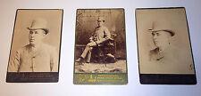 Antique Victorian Fashion Dapper Canadian Man, Ottawa Cabinet Photo Lot of 3!