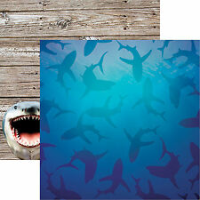 Reminisce SHARK TANK 12x12 Dbl-Sided (2pc) Scrapbooking Paper