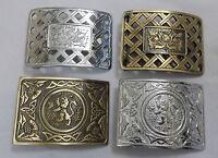 Thistle Lattice Kilt Belt Buckle Silver Finish/Lion Rampant Belt Buckle Antique