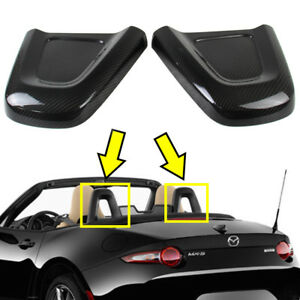 16-21 Fit For Mazda MX-5 Miata ND Interior Head Restraint Cover L&R Dry Carbon