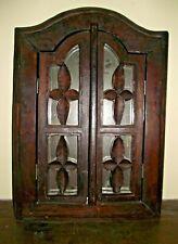 superbe Miroir fenêtre en bois exotique 59 cm/40 cm