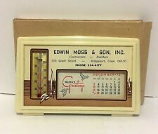 Vintage Desk Top Calendar and Thermometer Combo 1972 ~ Contractor Builder