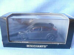 RARE MINICHAMPS 1/43 SCALE 2010 FORD FOCUS RS500 MATT BLACK OUTSTANDING DETAIL.