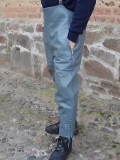 Reiterhose Reithose Lederhose  dickes Rindsleder Gr. 46 S grau neuwertig