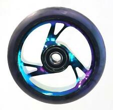 Scooter Wheel - Alloy Metal Core - 125mm - Abec 9 - Anodised Metal Heat