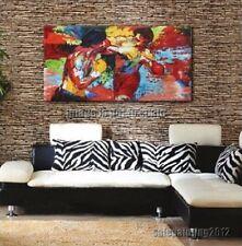 """Leroy Neiman Rocky vs Apollo""Handcraft oil painting on canvas-20x36/Unframed"