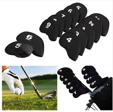Golf Iron Head Covers Protection Caddy Sport Durable Safe 10pcs Sock Set Number