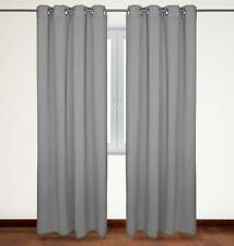 Over the Floor Blackout Curtains, Thermal Insulated Grommet Top 54x84-inch Grey