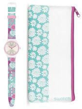 Swatch Skin skinpivoine Reloj svoz100 Análogo SILICONA ROSA,rosa,turquesa,blanco