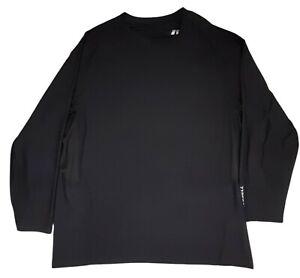 Russell Dri-Power 360 Mens Activewear Shirt 3XL Long Sleeve Black Logo Pullover
