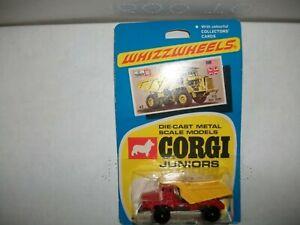 Corgi juniors whizzwheels rear dump truck R35 on blister card 1970 Terex