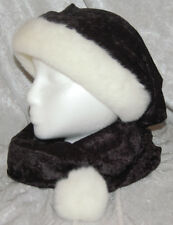 Black Crushed Velvet Long Scarf Santa Hat