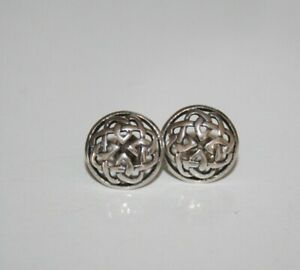 STERLING SILVER 925 KIT HEATH KH Solid Silver CELTIC KNOT Round Stud EARRINGS
