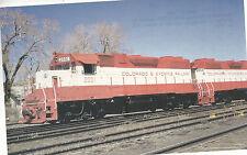 Colorado & Wyoming  Locomotive  #2001  Jansen CO  1974 view  Postcard Train 9224