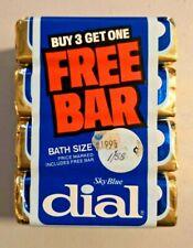 Vintage 4X Sky Blue Dial  Deodorant  Soap Bar NOS 5 oz from 80s NOS -- 497