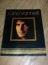Gino Vannelli Concert Program 1979 Brother to Brother Tour