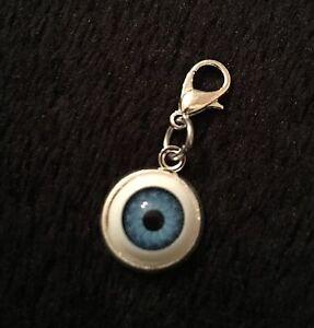 X2 3D Evil Eye Ball Bracelet Charm Clip Lucky Protection Steampunk Rockabilly
