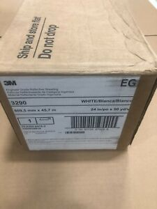 GENUINE 3M 3290 24 in x 50 yd Engineer Grade Reflective 24 in White NEW IN BOX