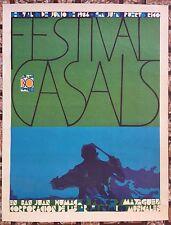 Festival Pablo Casals 30 Aniversario 1986 Cartel Poster Puerto Rico