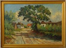 Sv. NEUMANN » Sonnige Dorfstraße « 104x76 cm