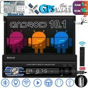 7'' Navi Wifi Android 10.1 1Din Autoradio Touchscreen Auto GPS MP5 Bluetooth USB